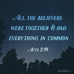 Everything in Common: Acts 2:44
